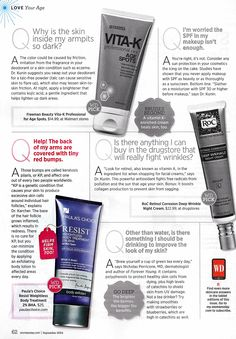 Battling pesky red bumps on the back of your arms? In the September 2014 issue of @womansday magazine, they suggest treating this vexing beauty concern with our Resist Weightless Body Treatment. ♥ #PaulasChoice