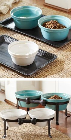 Cambria Pet Bowls from Pottery Barn