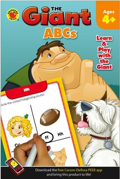 Learn and play with the Giant and his friends! The Giant Activity Book: ABCs is just right for fun at home or on the go. Practice pages for letters and sounds from A–Z will delight children ages four and up while building attention, fine-motor ability, and early learning skills.