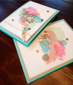 Pretty in Ink Stamping - Stampin' Up! Demonstrator Edmonton, Windermere-Ambleside: Hello There Lovely Hostess Set Stamping Up Cards, Art Cards, Paper Hearts, Card Making Inspiration, Watercolor Cards, Card Tags, Thank You Cards, Cardmaking, Stampin Up
