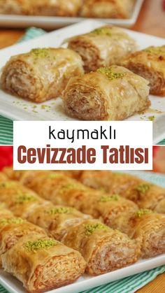 Creamy Cevizzade Baklava Recipe (with video) – Yummy Recipes - Rezepte Yummy Recipes, Yummy Food, East Dessert Recipes, Turkish Baklava, Turkish Recipes, Ethnic Recipes, Turkish Sweets, Middle East Food, Wie Macht Man