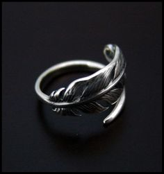 Feather Ring - High Quality - Ring Sizes 6, 6,5 7, 7,5, 8, 8,5 #Metalwork