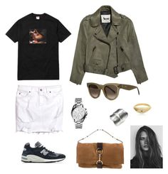 """""""Untitled #150"""" by klara-engholm on Polyvore featuring H&M, New Balance, Ole Lynggaard, CÉLINE, Yves Saint Laurent, Michael Kors, Acne Studios and GE"""