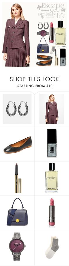 """""""Escape your ordinary life"""" by gadinarmada-1 ❤ liked on Polyvore featuring Avenue, Brooks Brothers, Frye, JINsoon, Trish McEvoy, Bobbi Brown Cosmetics, Anya Hindmarch, LORAC, Nixon and Madewell"""