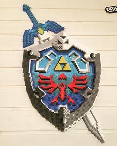 Legend of Zelda perler beads by unpixable_