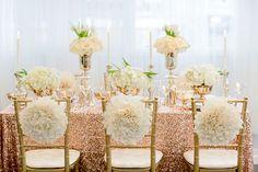 Gorgeous gold wedding decor!