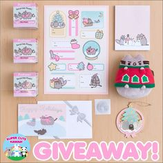 i want to be the one who willreceive the giveaway because i want it so much and i don't have money to afford one pusheen merchandise