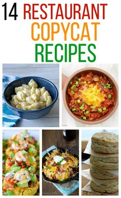 14 Restaurant Copycat Recipes - recipes from The Cheesecake Factory, Panera Bread, Olive Garden and more!
