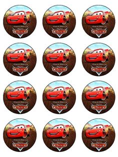 13 Printable Disney Cars Cupcakes Ideas Photo - Disney Cars Cupcake Topper Printable, Disney Cars Cupcake Toppers Free Printables and Disney Cars Cupcake Toppers Free Printables Disney Cars Cupcakes, Disney Cars Party, Disney Cars Birthday, Car Themed Parties, Cars Birthday Parties, Frosting Cupcake, Cake Icing, Cars Birthday Invitations, Cupcake Toppers Free