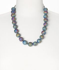 Look what I found on #zulily! Rainbow Druzy Beaded Necklace by of earth, $30 !!   #zulilyfinds