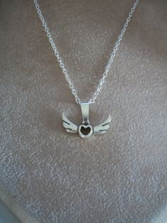 Silver Heart with Wings Necklace by Brendas by BrendasBeading, $9.99