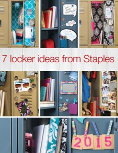 Turn style loose on your locker space with these 7 creative ideas from Staples - because you can be organized and on-trend, too. Going Back To School, School Supplies, School Stuff, Creative Ideas, Lockers, Twins, High School, Organization, Space