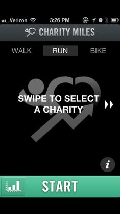Fantastic app called Charity Miles. It's such a simple and brilliant idea. All you have to do is download the app, select a charity and proceed to walk, run and/or bike. You earn 10 cents per mile biked and 25 cents per mile walked or ran.