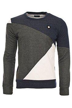 Love the design of this Redbridge Designer Herren Casual Pullover Men´s Knitewear R-41357 anthrazit XL #sweater #offduty #men #designer #covetme #redbridge