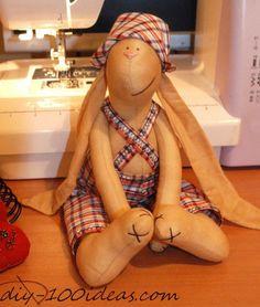 How to sew tilda bunny.