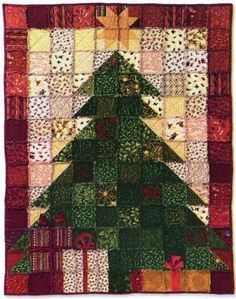 Christmas Tree Quilt Pattern Dressed for the by AnnadaisysFabrics