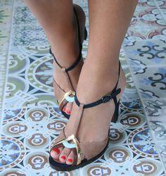 TENERIFE-26 PEACH :: SANDALS :: CHIE MIHARA SHOP ONLINE