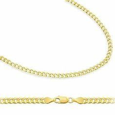 """14k Solid Yellow Gold Cuban Chain Necklace 2.4mm 22"""" Sonia Jewels. $318.00"""