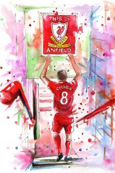 This Is Anfield! 💓💓 Steven Gerrard The Legend Steven Gerrard Liverpool, Liverpool Captain, Liverpool Legends, Liverpool Players, Liverpool Football Club, Liverpool Fc Wallpaper, Liverpool Wallpapers, Lfc Wallpaper, Football Art