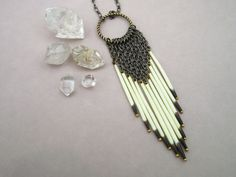 Porcupine Quill Tassel Dreamcatcher necklace by 0RejoiceTheHands on Etsy