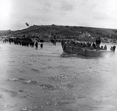 Omaha Beach, Le Ruquet, Saint-Laurent-sur-Mer - WN65, dans les jours suivants le 6 june 1944. POWs allemands conduits en Angleterre Photo Tag, Omaha Beach, D Day Normandy, Normandy Invasion, World War Ii, Ww2, American History, Saint Laurent, June 6th
