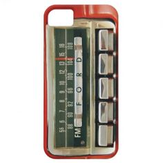 Retro Old School iPhone 5 Ford Car Radio Case Red iPhone 5 Case