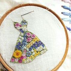 """2,118 curtidas, 26 comentários - embroidery (@__needlework__) no Instagram: """"❤️ http://pantorii.exblog.jp/18113123 #❤️ایده_گلدوزی"""""""