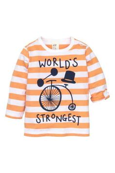 H&M - Long-sleeved printed T-shirt £4.99