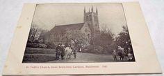 St Faiths Church - Maidstone - Kent - Antique Postcard c1910 Faith Church, Postcards, Saints, Antiques, Antiquities, Antique, Old Stuff, Greeting Card