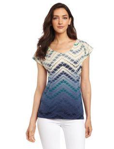 Lucky Brand Women's Cobra Basket Top, Blue Multi, Small Lucky Brand,http://www.amazon.com/dp/B00BQN1A1I/ref=cm_sw_r_pi_dp_D9m1sb04G18SHNXP