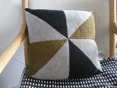 Knit pillow.