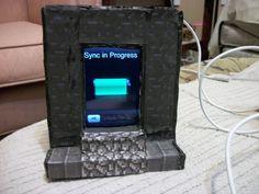 Epic Minecraft Nether portal iPod dock