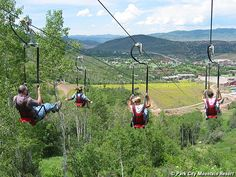 In Park City!  If you are looking for the World's steepest Zipline, you can find it at the Utah Olympic Park.