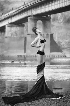The silhouette that is created by the wrapped draped fabric is divine. Incredible.