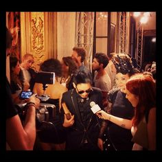 Milan Fashion tv interview..at the door