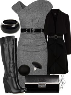 """Dressing Up Wedge Boots"" by mhuffman1282 on Polyvore"