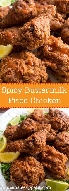 This Spicy Buttermilk Fried Chicken is crispy, juicy and seasoned to perfection. Everyone needs a favourite go-to fried chicken recipe, and once you try this one, I'm sure it'll be yours!