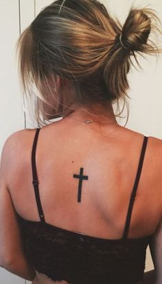 << Check out more Cross tattoos #tattoomenow #tattooideas #tattoodesigns #tattoos #cross #religious #christian Back Cross Tattoos, Tattoo Designs, Tattoo Ideas, Tatting, Piercings, Ink, Pretty, Christian, Check