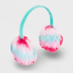 Girls' Faux Fur Earmuffs - Cat & Jack Blue One Size Snow Bunnies, Bunny, Cat And Jack, Earmuffs, Girl With Hat, Girls Accessories, Faux Fur, The Incredibles, Stylish
