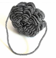 Silver Rose Evening Crocheted Clutch Pouch by silvia66, via Flickr
