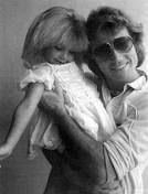 Andy Gibb and his daughter Peta..Not very many out there of andy and peta.