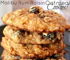 ~Malibu Rum Raisin Oatmeal Cookies!  I am not much for coconut so I might try this out with a different twist.