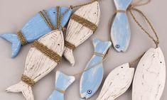 Διακοσμητικά ξύλινα Ψάρια κρεμαστά | bombonieres.com.gr