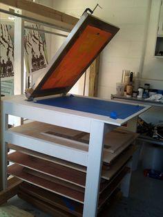 Custom Built Screen Printing Table