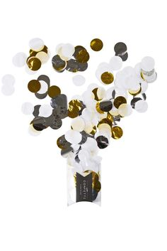 This pack contains shades of white, metallic gold and silver jumbo confetti for throwing, decorating & playing. The confetti size is the packaging size is 100 x 90 x Why is Poppies for Grace confetti superior? Jumbo Balloons, Pastel Balloons, Metallic Balloons, Gold Confetti Balloons, Giant Balloons, Paper Fan Decorations, Gold Party Decorations, Poppies For Grace, Rose Gold Paper