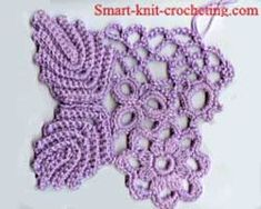 Irish Crochet ~ Connecting motifs with the help of a crocheted net ~ tutorial.