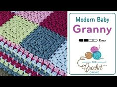 How to Crochet A Baby Blanket: Modern Baby - YouTube