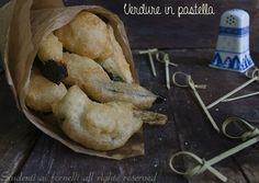"""Le verdure in pastella, il classico """"cuoppo napoletano"""" tipico street food, è un delizioso antipasto con zucchine, melanzane, carciofi e zeppoline.."""