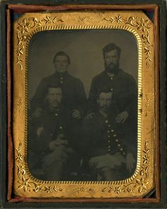 In honor of the 150th anniversary of Gettysburg this week: Tintype of Civil War soldiers from the KSU LIbraries, Special Collections and Archives, Rodgers/Silverman Papers.
