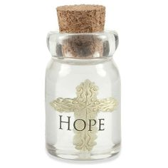 The Hope Bottle Keepsake Charms are made out of high quality resin stone. The beautiful keepsake features a cross suspended in a bottle that are printed with a powerful word of faith, and topped with a cork stopper. These keepsakes make a perfect gift for friends and family for any occasion. Keep the spirit strong with this darling little reminder of faith that can be carried along no matter where life takes you.